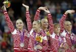 Женская сборная России по спортивной гимнастике - серебряные призеры Олимпиады 2012